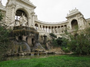 Marseille: Palais Longchamp and the gardens.