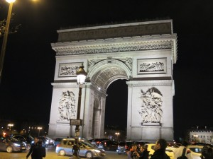 Paris: Arc de Triomphe, end of the running.