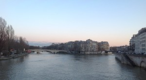 Paris: Seine sunset.
