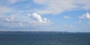 The coast across the gulf.