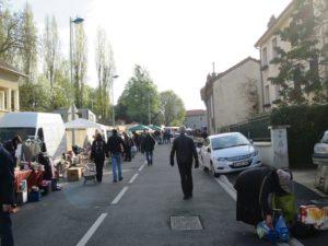 Random Sunday street flea market.